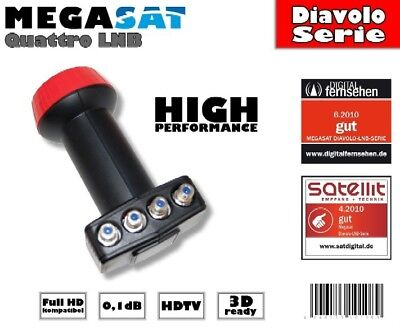 NEU!! Megasat Diavolo digital Quattro LNB 0,1dB Full HD ready