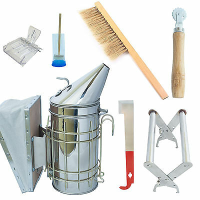 Beekeeping Starter Kit Beekeeper Equipment Beehive Tools Bee Hive with Smoker