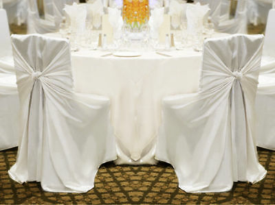 100 Universal Satin Chair Covers ~Wedding Party Decorations - 3 Colors!