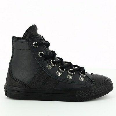 """New Authentic Converse Junior//Youth /""""Ct Street Slip /"""" Black Electro Yellow"""