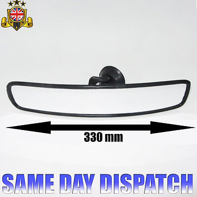 Car Wide Panoramic Interior Rear View Mirror Suction Cup 33Cm New Top Quality Eq