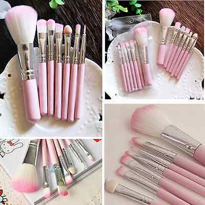 Set of Pro Makeup Cosmetic Brushes Powder Foundation Eyeshadow Lip Brush Tool