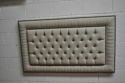 """Modern Headboard Deep Buttons Height 36""""  With Decorative Nails Fabric Boston"""