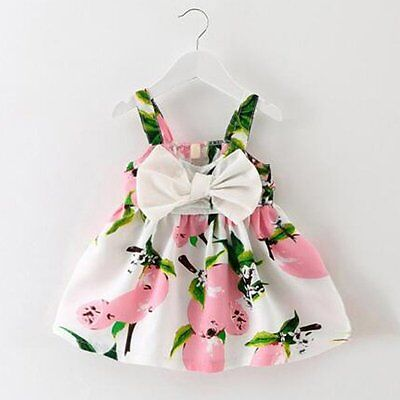 Toddler Infant Kids Baby Girls Summer Dress Princess Party Wedding Tutu Dresses
