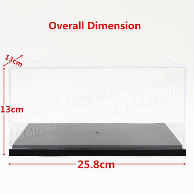 Acrylic Plastic Display Box Stand Step 4steps Clear Perspex Tray Case Dustproof
