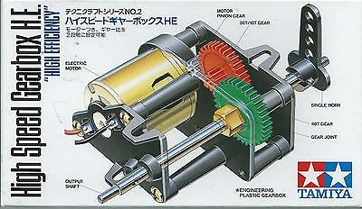 "Tamiya Educational  High Speed Gearbox H.e. ""high Efficiency""  Art 72002"