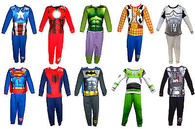 Boys Kids Novelty Spiderman Batman Superman Hulk Iron Fancy Dress Costume Pj