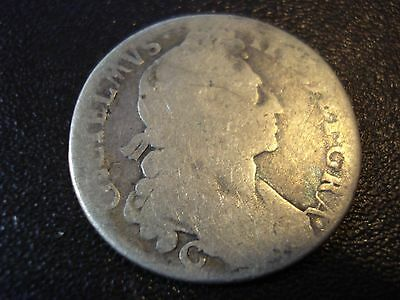 Great Britain William III Sterling Silver Shilling Antique Coin  #AZ1