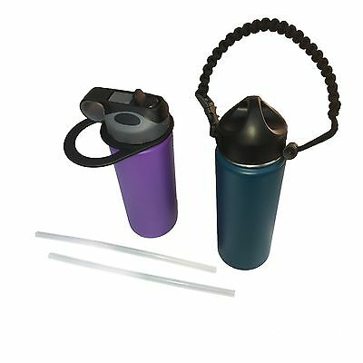 Paracord Strap Handle, Straw Lids & Handle Fits All Hydro Flask Wide Mouth
