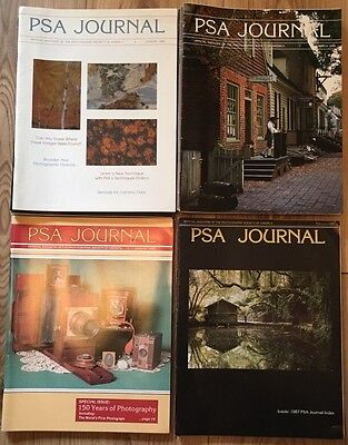 """Job Lot of 26 Vintage Issues """"PSA Journal"""" Photographic Society of America"""