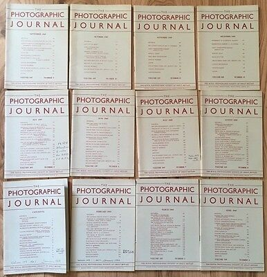 The Photographic Journal - Royal Photographic Society - Full Year Job Lot 1969