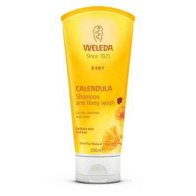Weleda Calendula Baby Shampoo & Body Wash (200ml) Natural Organic Skin Care NEW