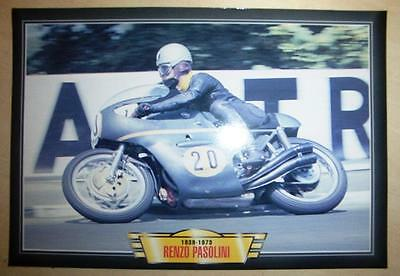 Renzo Pasolini Racer Rider Benelli Classic Motorcycle Race Bike Picture