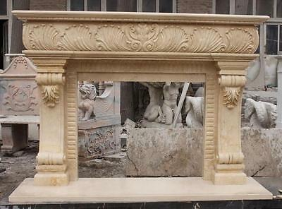 French Style Marble Fireplace Mantel features Great Detail and Elegant Look