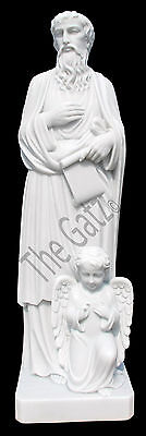 Life Size hand carved marble statue of St. Matthew the Evangelist, Religious