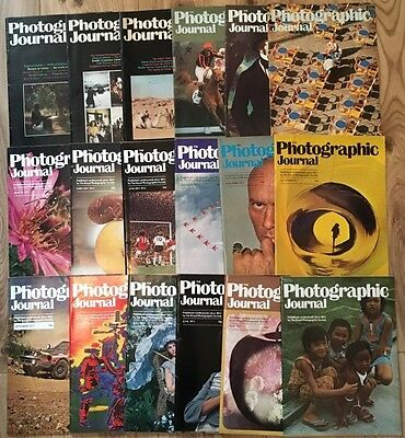 The Photographic Journal - Royal Photographic Society - 18 Issue Job Lot 1973-79