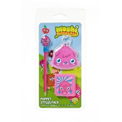 Moshi Monsters Poppet Stylus Pen Pack Nintendo DS DSI Lite 3DS XL 3 Pack