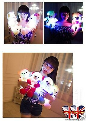 Children's Teddy Bear Night Light With Multi-Coloured Flashing Lights