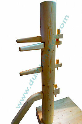 wing chun wooden dummy with closed base natural color