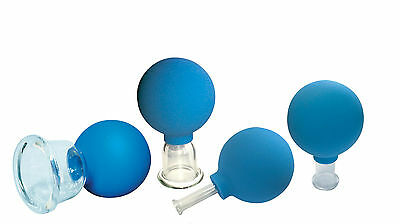 Massage Cups Set of 4 Anticellulite Vacuum Cup Facial Cupping Glass Full Body