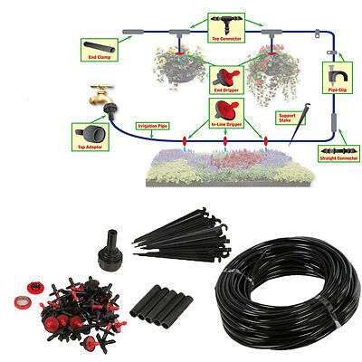 Micro Irrigation Watering Kit Automatic Garden Plant Greenhouse Water System