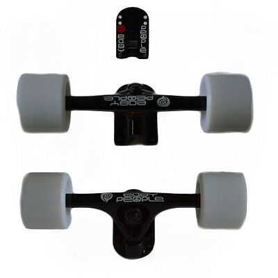 Easy People Longboards 2 Black Trucks White Wheels,Spacer,ABEC-7 New