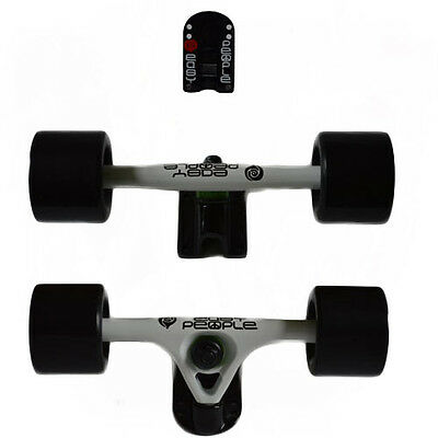 Easy People Longboards White Trucks Black Wheels,Spacer,ABEC-7 New