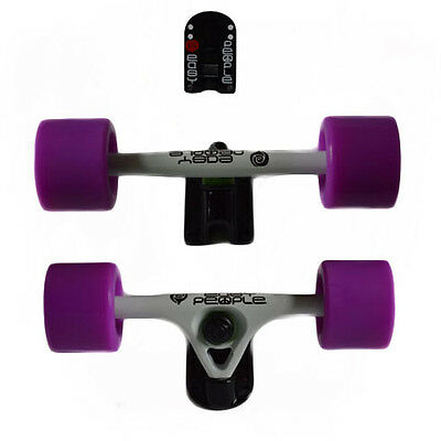Easy People Longboards White Trucks Purple Wheels,Spacer,ABEC7 new