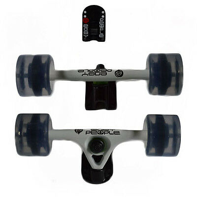 Easy People Longboards 2 White Trucks Gel Clear wheels,Spacer,ABEC-7  New