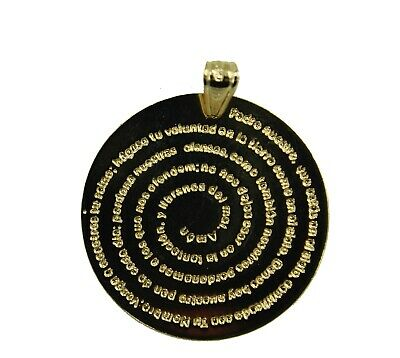 Padre Nuestro Round Pendant with 20 inch Chain - Padre Nuestro Necklace