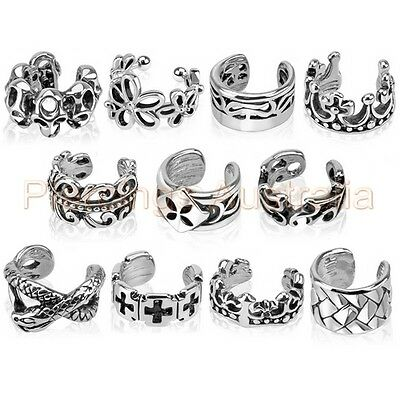 1 x Clip On Non Piercing Ear Ring Cuff Body Jewellery CHOOSE DESIGN
