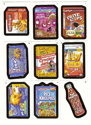 WACKY PACKAGES SERIES 8 - ANS8  - Sticker Trading Card Set (55) 2011 - NM