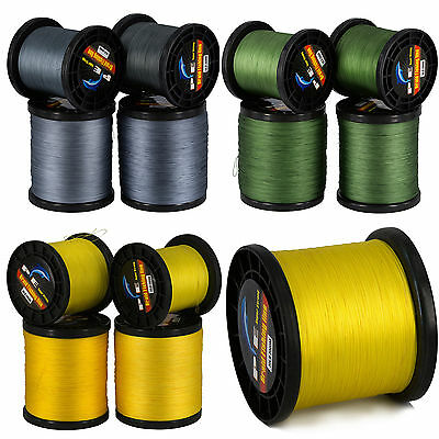 2000M Dyneema Spectra Braided PE Sea Fishing Line Gray Green Yellow Super Strong