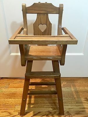 Vintage Wooden Baby Doll Toy Mini Child Play High Chair Antique In San Francisco