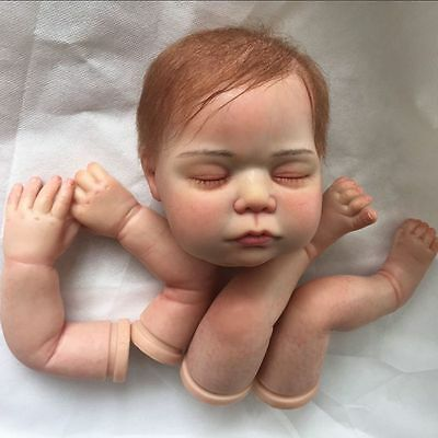 reborn doll kits with rooting hair,painted kits and magnetic mouth, realistic