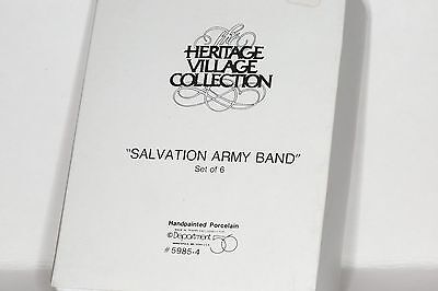 Dept 56 Dickens Village ~ Salvation Army Band ~ Mint In Box 59854