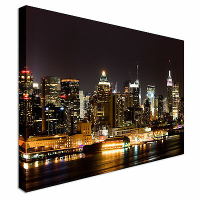 Manhattan West Side New Jersey Canvas Wall Art prints high quality