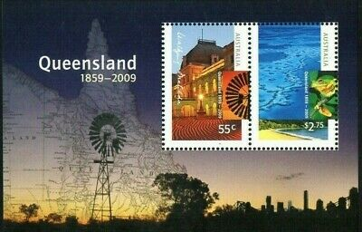 2009 Queensland 150 Years Mini Sheet Mint Never Hinged