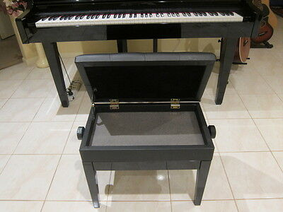 New Luxury Adjustable Piano / Keyboard Bench Stool Pu Leather Seat Storage 5103