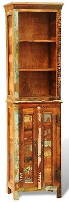Bookcase Reclaimed Solid Wood Unique Handmade Polished Partly Painted Waxed New