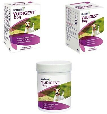 Lintbells YuDIGEST Dog 60/120/300tbl Digestive Supplement Prone Tummy Troubles