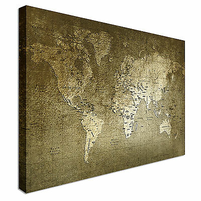Old World Map Texture And Amazing Colors Canvas Wall Art prints high quality
