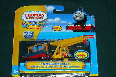 Thomas The Tank Engine & Friends Kevin's Helping Hook Diecast Take Along Set NEW