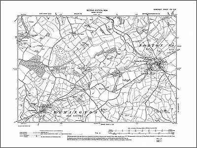 Norton St Philip, Faulkland, old map Somerset 1904: 21SW repro
