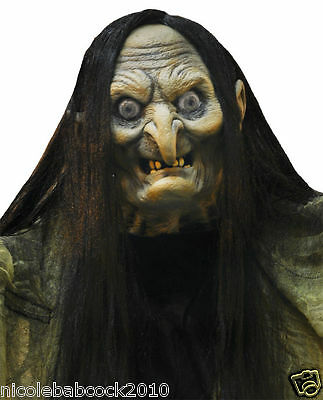 "84"" Terrifying Halloween Animated Monster Witch Life Size Decor"