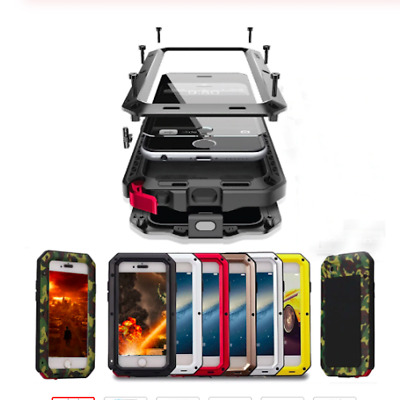 WATERPROOF SHOCKPROOF ALUMINUM GORILLA GLASS METAL CASE COVER FOR iPHONE SE 5S 6