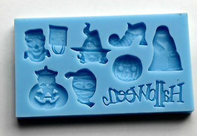 Halloween Silicone Mould Cake Decoration Chocolate Fimo Polymer for Cake Toppers