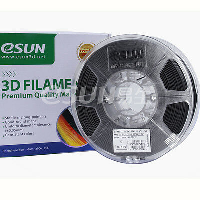 eSUN 3D Printer PETG Filament, 1.75mm,1kg, Black/White,Ideal replacement for ABS