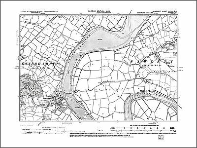 Combwich, old map Somerset 1904: 38SW repro