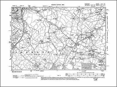 Frome SE, old map Somerset 1904: 43NE repro